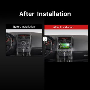 2007 2008 2009 2010 2011-2016 MAZDA CX-9 Car Radio after installation