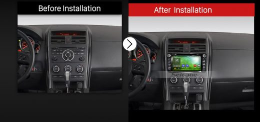 2007 2008 2009 2010 2011-2016 MAZDA CX-9Car Radio after installation