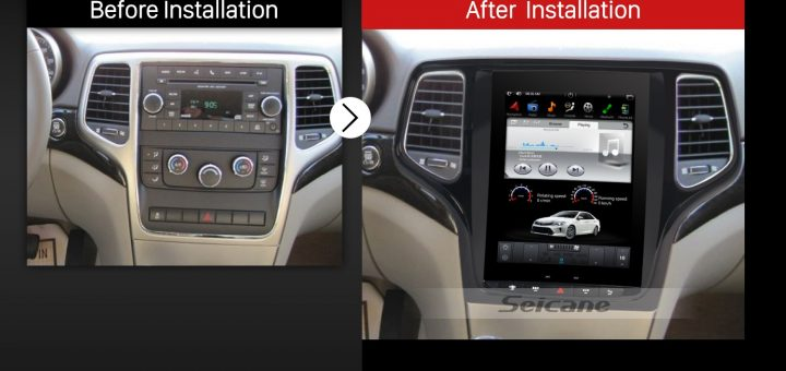 2011 2012 2013 Jeep Grand Cherokee Car Radio after installation