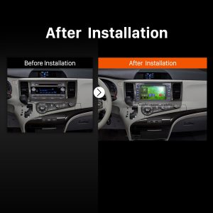 2013 2014 2015 2016 TOYOTA Sienna XL30 Bluetooth Head Unit after installation