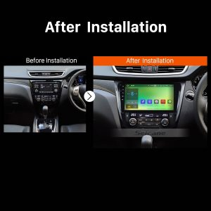 2014 2015 NISSAN Qashqai Radio after installation