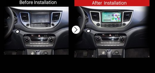 2015 2016 Hyundai IX35 TUCSON (LHD) Bluetooth GPS DVD Car Radio after installation