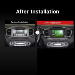 2015 2016 KIA SORENTO GPS Bluetooth DVD Car Radio after installation