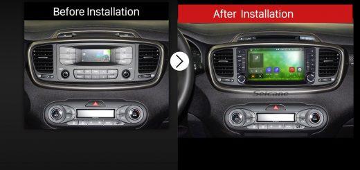 2015 2016 KIA SORENTO GPS Bluetooth DVD Car Radio after installation