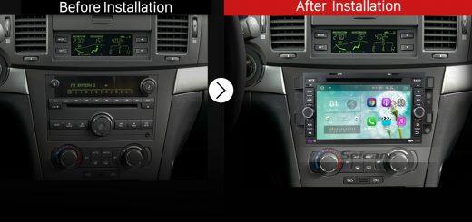 2006 2007 2008 2009 2010-2011 Chevy Chevrolet CAPTIVAAftermarket Car Radio after installation