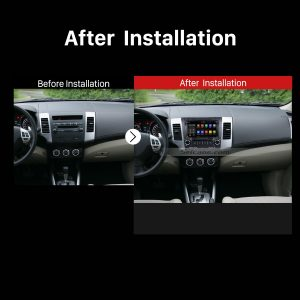 2006 2007 2008 2009 2010-2012 Mitsubishi OUTLANDER Car Stereo after installation
