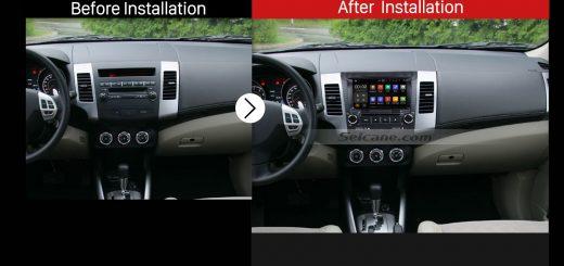 2006 2007 2008 2009 2010-2012 Mitsubishi OUTLANDER Car Stereo after installation