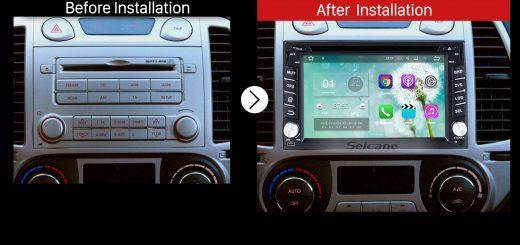 2008 2009 2010 2011 2012 Hyundai i20 Car Radio after installation