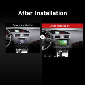 2010 2011 2012 2013 2014-2015 MAZDA 3 Car Stereo after installation