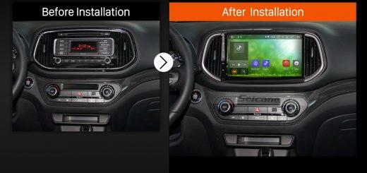 2014 2015 KIA KX3 Car Radio after installation