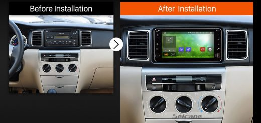 2003 2004 2005 2006 2007-2010 Toyota Vios Multifunctional Car Radio after installation