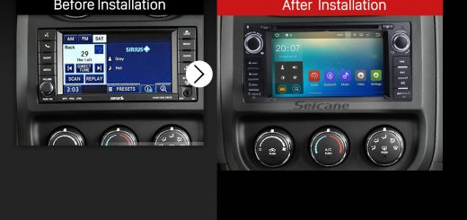 2009 2010 2011 Jeep Compass Bluetooth GPS Car Stereo after installation