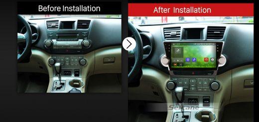 2011 2012 2013 2014 Toyota Highlander Car Radio after installation