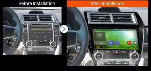 2012 2013 2014 2015-2017 TOYOTA CAMRY European American Car Radio after installation