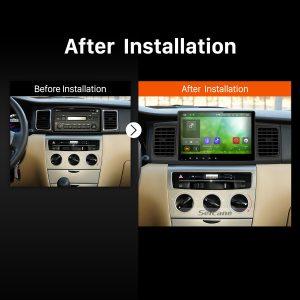 2013 Toyota Corolla EX E120 Bluetooth GPS Car Radio after installation