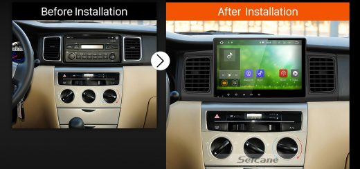 2013 Toyota Corolla EX E120 Bluetooth GPS Car Radio after installation