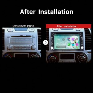 2001 2002 2003 2004 2005-2007 Hyundai TERRACAN Dash Stereo Radio after installation
