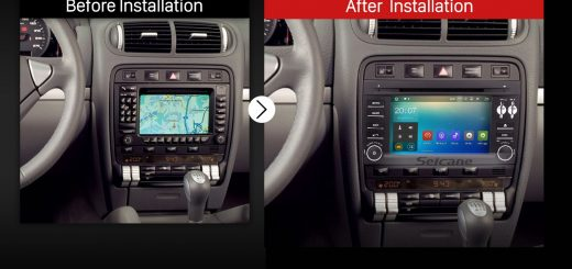 2003 2004 2005 2006 2007-2010 Porsche Cayenne Bluetooth DVD Car Radio after installation