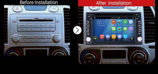 2004 2005 2006 2007 2008-2010 Nissan PATROL Radio after installation