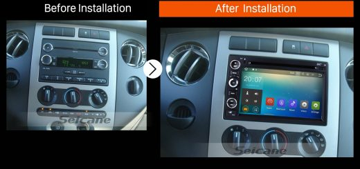 2005 2006 2007 2008 2009 Ford Freestyle Mustang Car Radio after installation