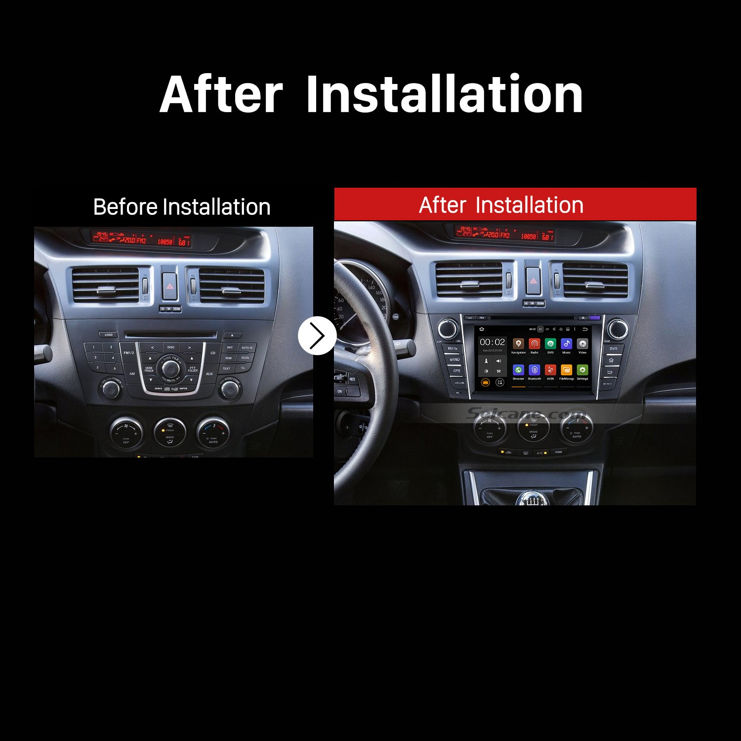 how to replace a 2009 2010 2011 2012 mazda premacy radio. Black Bedroom Furniture Sets. Home Design Ideas