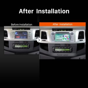 2012 Toyota Hilux Car Radio after installation