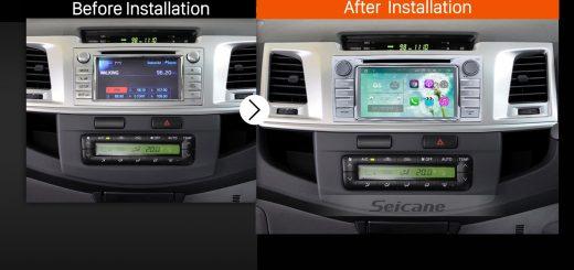 2012 Toyota Hilux Car Radio after installation