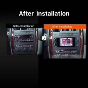 2001 2002 2003 2004 2005-2007 Chrysler 300M PT Cruiser Sebring Concorde Grand Voyager Town & Country car radio after installation