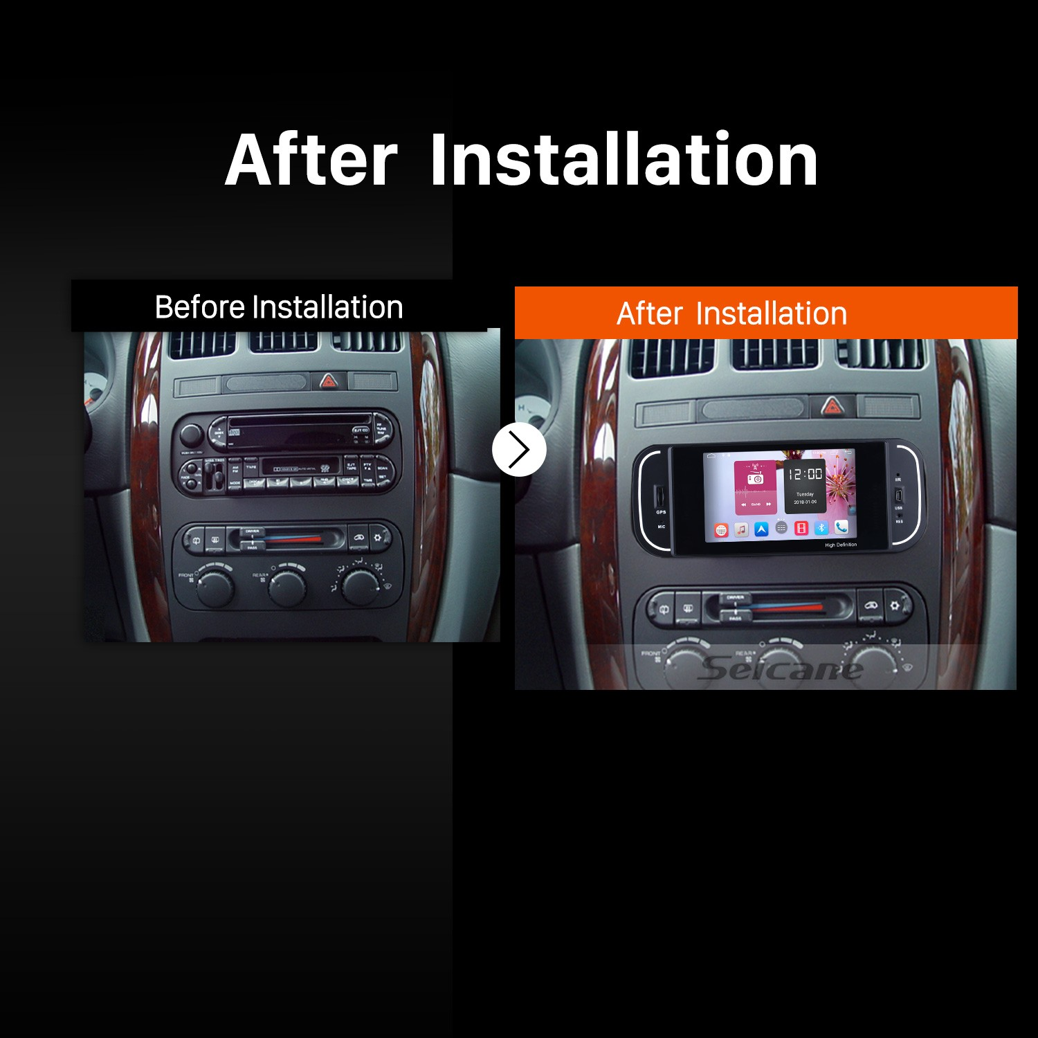 how to easily replace the factory radio with a 2001 2002. Black Bedroom Furniture Sets. Home Design Ideas