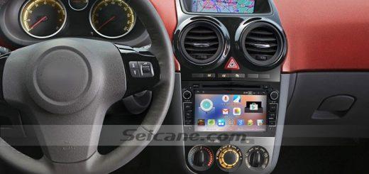 2005-2011 Opel Zafira Car Stereo after installation