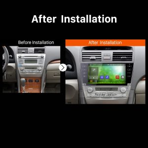 2007 2008 2009 2010 2011 TOYOTA CAMRY GPS Bluetooth Car Radio after installation