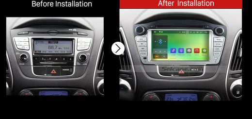 2009 2010 2011 2012 2013-2015 Hyundai IX35 Stereo after installation