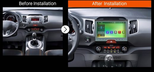 2010 2011 2012 2013 2014-2015 KIA SportageAftermarket Stereo Radio after installation