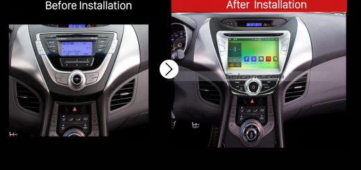 2011 2012 2013 2014 2015 Hyundai ElantraCar Radio after installation