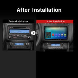 2009 2010 2011 2012-2013 VW Volkswagen BORA Polo V 6R Car Stereo after installation