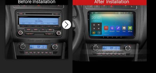 2009 2010 2011 2012-2013 VW Volkswagen BORA Polo V 6R Car Stereo after installation