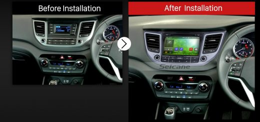 2015 2016 HYUNDAI TUSCON IX35 (RHD) Car Radio after installation