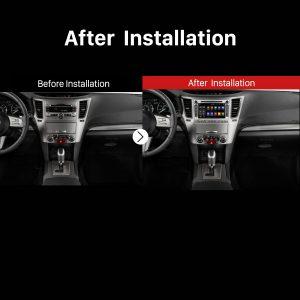 2009 2010 2011 2012 2013 Subaru LegacyCar Radio after installation