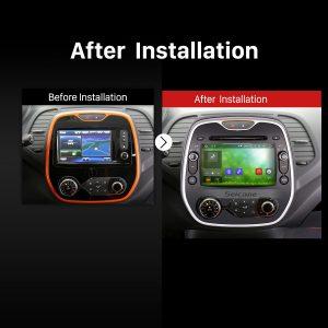 2011 2012 2013 2014 2015-2016 Renault Captur CLIO Samsung QM3  car radio after installation