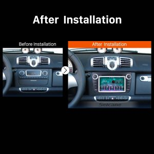 2012 Mercedes-Benz Smart Fortwo car radio after installation