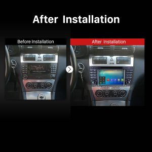 2004 2005 2006 2007 Mercedes Benz C Class W203 C180 C200 C220 C230 Car Radio after installation