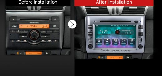 2005 2006 2007 2008 2009-2010 Fiat Stilo New Aftermarket Car Radio after installation