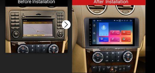 2005 2006 2007 2008-2012 Mercedes Benz ML CLASS W164 ML350 ML430 ML450 ML500 car radio after installation