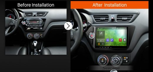2011 2012 KIA K2 RIO Car Radio after installation