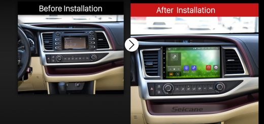 2015 Toyota Highlander GPS Nav Bluetooth Car Radio after installation