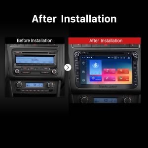 2006 2007 2008 2009-2012 VW VOLKSWAGEN MAGOTAN car radio after installation