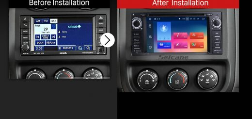 2007 2008 2009 2010 Jeep Wrangler Unlimited car radio after installation