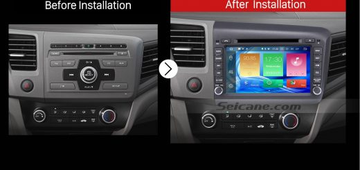 2012 Honda Civic Car Radio after installation
