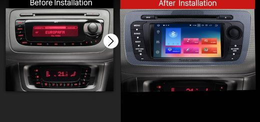 2009 2010 2011 2012 2013 SEAT IBIZA car radio after installation
