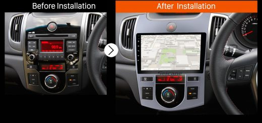 2008 2009 2010 2011-2012 KIA Forte(AT) car radio after installation